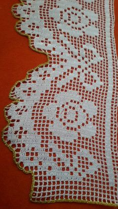 Havlu kenarı Filet Crochet, Crochet Lace Edging, Crochet Borders, Irish Crochet, Crochet Doilies, Love Crochet, Crochet Top, Crochet Stitches, Filets