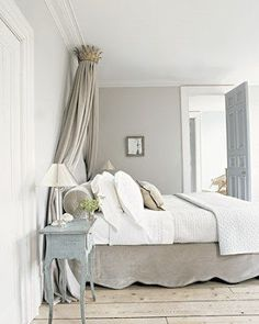 neutral but amazing bedroom!