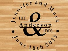 Dance Floor Decal Just Married Mr and Mrs with by 3GCustomGraphics
