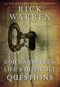 Rick Warren takes you to the Bible for answers to twelve of life's toughest questions. Drawing from the examples of different biblical characters who faced the same issues, Warren offers concise, practical insights you can understand and apply in order to move past hardships and experience a life of purpose and significance.