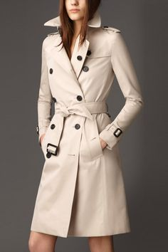 Double-Breasted Trench Coat With Belt OFF-WHITE: Jackets & Coats | ZAFUL