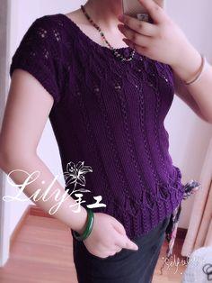 【Lily手工】--紫菱--真丝亚麻上衣--今年最后一件夏装 - Lily - Lily的手工编织天地