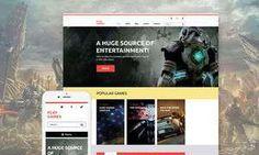 Video Games & Gaming Blog WordPress Themes - Play Games