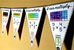 Multiplying Fractions Math Pennant Activity by Scaffolded Math and Science Fraction Activities, Math Resources, Math Activities, Math Games, Math Art, Fun Math, Maths, Math Vocabulary, Multiplying Fractions