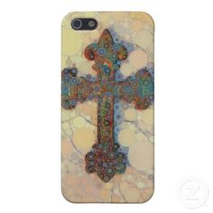 Cool Christian Cross Circle Mosaic Pattern Covers For iPhone 5