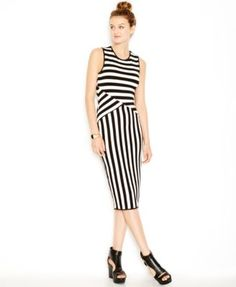 d90a57a496ac Bar III Striped Midi Bodycon Dress, Created for Macy's Women - Dresses -  Macy's