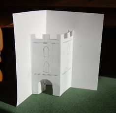 Pop-up castle cards from Playing by the Book
