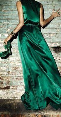 Emerald Satin Chic |