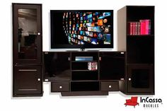 Centro de Entretenimiento Minimalista Mod. ARMOR. Incluye: 1 mueble central para pantalla y 2 torres laterales. Medidas: Largo 2mts, Alto 1.60m, Fondo 40cm --DISPONIBLE EN CUALQUIER COLOR. Precio: $3,990