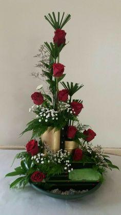 Valentine Flower Arrangements, Church Flower Arrangements, Rose Arrangements, Christmas Arrangements, Church Flowers, Beautiful Flower Arrangements, Unique Flowers, Faux Flowers, Exotic Flowers