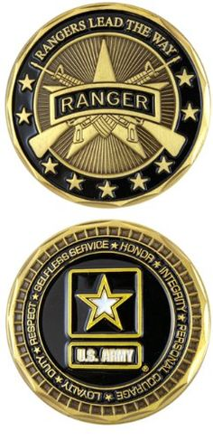US ARMY RANGER Challenge Coin-Eagle Crest 2551 Eagle Crest - This is a great keepsake!! #Army