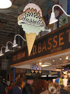 Bassett's Ice Cream stand in Philadelphia's Reading Terminal. I lived in Philly one summer and became addicted to Bassett's vanilla.