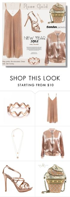 """""""So Pretty - Rose Gold Jewelry: 30/12/16"""" by pinky-chocolatte ❤ liked on Polyvore featuring Sans Souci, Michael Kors, Badgley Mischka, Mary Frances Accessories, xO Design and Anita Ko"""