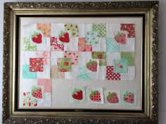 Quilt Design Board made from a vintage frame