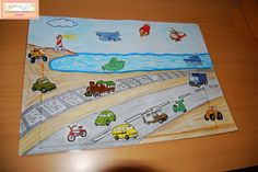 El baúl de A.L: Materiales de elaboración propia Transportation Songs, School Projects, Projects To Try, Beach Mat, Preschool, Outdoor Blanket, Classroom, The Unit, How To Plan