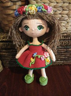Doll. Toy handmade. Amigurumi. Doll with от VintageVilageShop