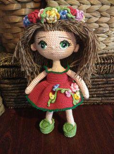 Doll. Toy handmade. Amigurumi. Doll with by VintageVilageShop ☆