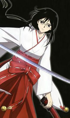 Blood C Anybody else noticed how she looks similar to Kikyo from Inuyasha?