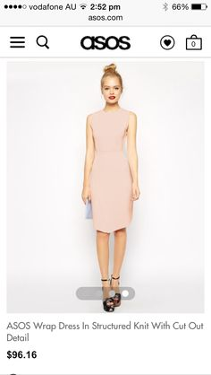 I like this colour and the sharp modern cut of this dress. I would have a drooping low back.