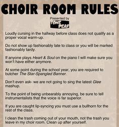FUNNY Choir Room Rules