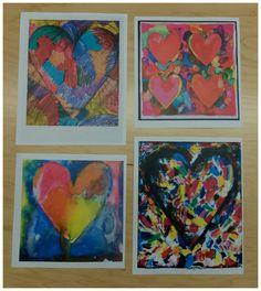 heart art - inspired by Jim Dine