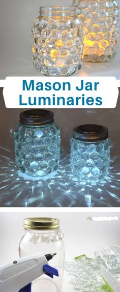 Mason Jar Luminaries Tutorial