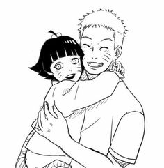 Hima and Naruto. Awww this is father and daughter goals