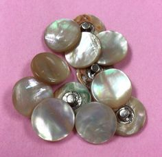 Vintage Mother Of Pearl Buttons, 12mm Metal Shank by MargiesCoolStuff on Etsy