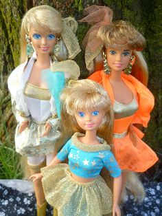 Hollywood Hair beauties: Barbie, Skipper, Teresa by Patty Is Totally Addicted To Barbie, via Flickr