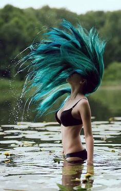 mermaid blue hair