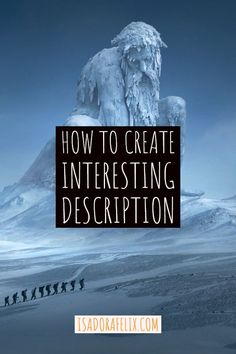 Secret to Create Interesting Description How to Create Interesting Description Learn how to write a book, how to start writing a book for beginners, how to finish writing a story, and more. Writer Tips, Book Writing Tips, Writing Words, Fiction Writing, Writing Skills, Start Writing, Writing Workshop, Common Core Writing, Writing Fantasy