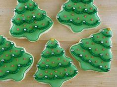 Christmas Sugar Cookies - Christmas Trees