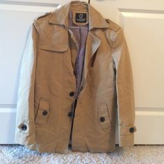 """Cheerful classic fashion coat Brand from China, does not fit me, good quality though. """"Size"""" is 5x but I'm a large and this is just a little small so I would pin it as a medium/large Jackets & Coats Trench Coats"""