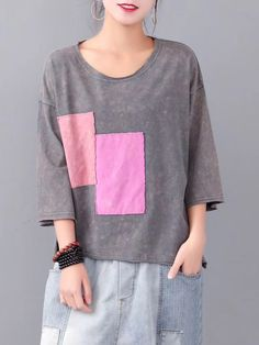 Casual Square Patch High Low Overhead T-Shirt look chipper and natural. NewChic has a lot of women T-shirts online for your choice, believe you will find your cup of tea. T Shirts For Women, Clothes For Women, Graphic Shirts, How To Get Money, Republic Of The Congo, Tshirts Online, High Low, Georgia, Patches