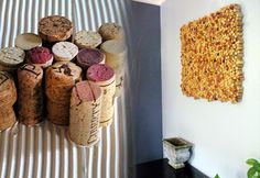 DIY Craft Projects for Wall Art - Wine Cork Crafts Wall Installation