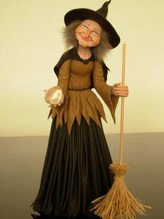 bruxinha, witch escultura, sculpture biscuit  tinta,aviamentos em geral,pedras brasileiras modelagem