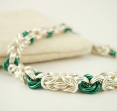 Byzantine Rose Chainmaille Bracelet  Kit or by UnkamenSupplies