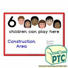How Many Children... Construction Area Signs - Primary Treasure Chest Eyfs Classroom, Classroom Rules, Classroom Posters, Teaching Activities, Teaching Art, Teaching Ideas, St Georges Day, Ourselves Topic, Construction Area