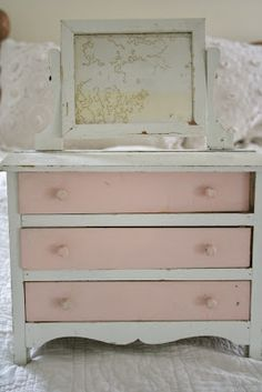 Doll furniture chest of drawers at Ironstone and Pine