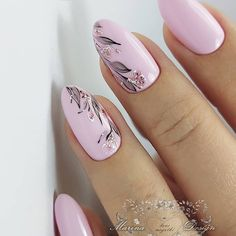 Simple Almond Nail Ideas For Grooming Your Fingers - Page 5 of 12 - Vida Joven Pink Nail Art, Cute Acrylic Nails, Pink Nails, Cute Nails, Pretty Nails, Frensh Nails, Oval Nails, Elegant Nails, Stylish Nails