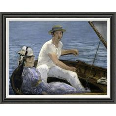 Global Gallery 'Boating' by Edouard Manet Framed Painting Print Size: