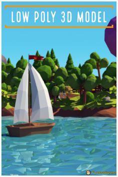Cartoon island low poly Model by Vilitay Cartoon Island, Digital Playground, Low Poly 3d Models, 3d Max, Scene, World, Film, Movie, Film Stock