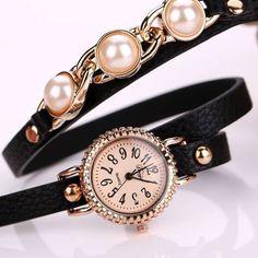 9797ebc2345b Wrap-pearls-strap-dress-black-long-wrap-leather-