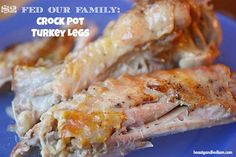 Do you wonder what to do with Turkey Legs? Look no further than this simple crock pot Turkey Leg recipe. Inexpensive and easy, slow cooker turkey legs are melt in your mouth good.