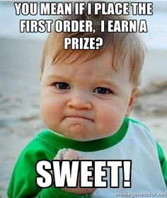 First order wins a prize
