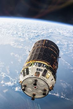 """Japan's H-2 Transfer Vehicle HTV-4 """"Kounotori"""" (white stork) arriving at the International Space Station on August 9th, 2013."""