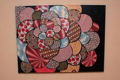 Scrapbook Flower Art on Canvas