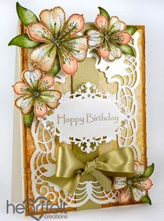 Heartfelt Creations | Peach Birthday Lilies