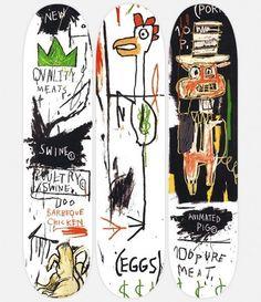 Jean-Michel Basquiat Skateboard decks 3 triptych supreme hirst haring warhol