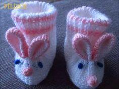 Bebek Tavşan Patik Yapılışı - YouTube